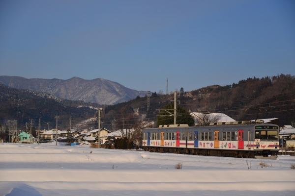 2014年2月10日 上田電鉄別所線 八木沢~舞田 1000系1002F