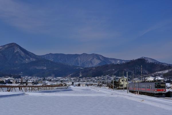 2014年2月10日 上田電鉄別所線 舞田~中野 1000系1001F