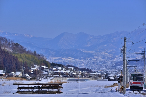 2014年2月10日 上田電鉄別所線 別所温泉~八木沢 1000系1001F