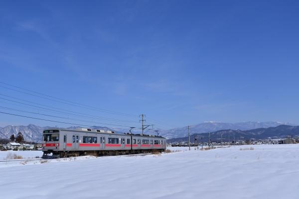 2014年2月10日 上田電鉄別所線 舞田~八木沢 1000系1001F