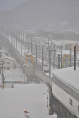 2014年2月16日 JR東日本長野新幹線 上田 E2系 遅れあさま500号