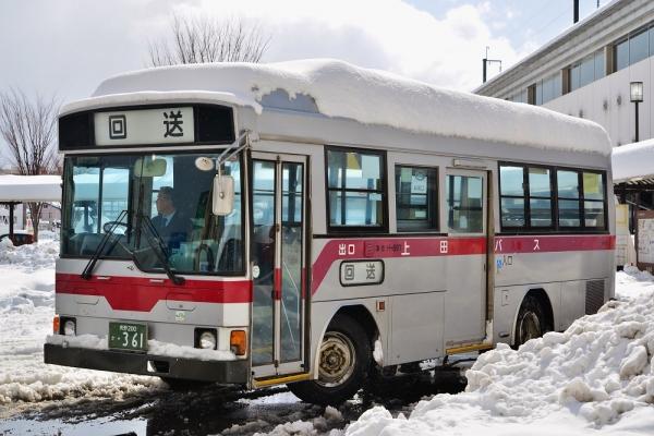 2014年2月16日 上田バス H-897号車 上田駅