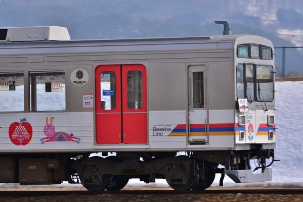 2014年3月12日 上田電鉄別所線 中野~舞田 1000系1002F