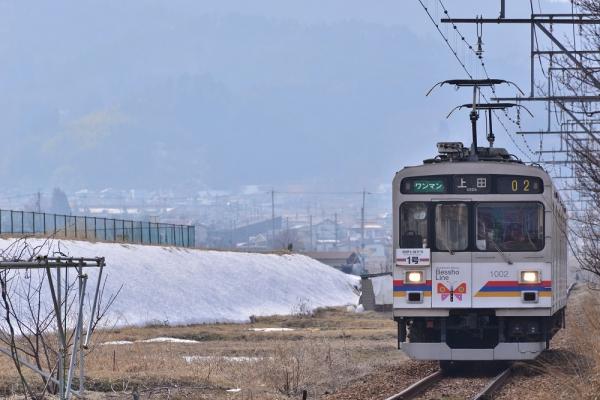 2014年3月12日 上田電鉄別所線 中野 1000系1002F