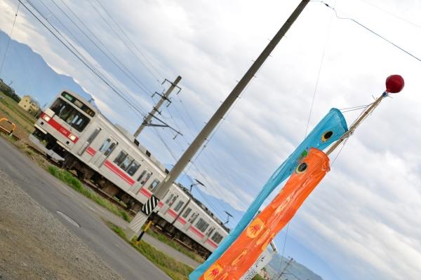 2014年5月5日 上田電鉄別所線 中野~舞田 1000系1004F