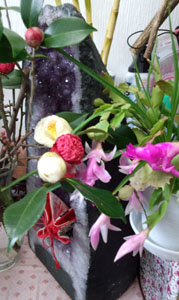 玄関にもお花~