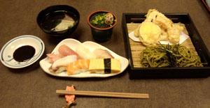 茶そば&お寿司セット