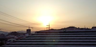 ぼや~夕陽