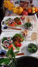 お昼ご飯 お寿司と南京1