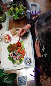 お昼ご飯 お寿司と南京2