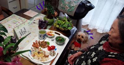 お昼ご飯 春の蕗寿司1