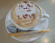 顔つきカフェ カプチーノ