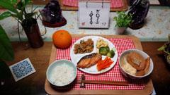 おでん+鮭+野菜炒め