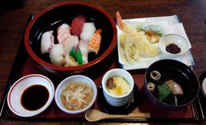 上にぎり天ぷらセット