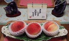 お祝いデザート 桃