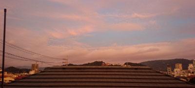 今朝の西の空