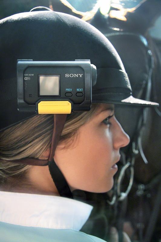 アクションカム HDR-AS100V装着