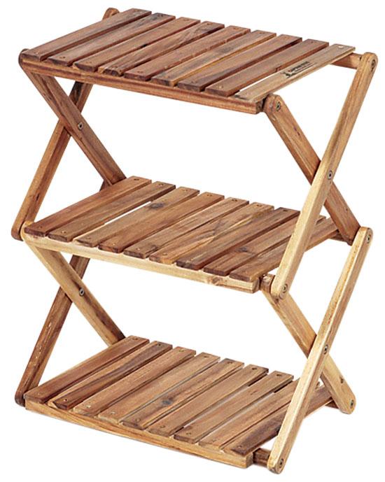 CAPTAIN STAG CSクラシックス 木製3段ラック