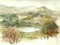 甘樫の丘から畝傍山方面
