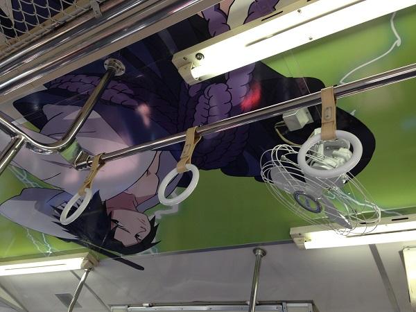 ナルト列車の車内のペイントです