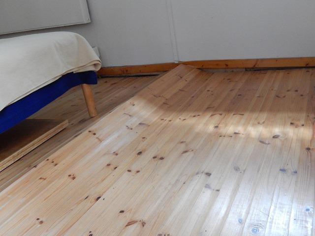 うねりのある床