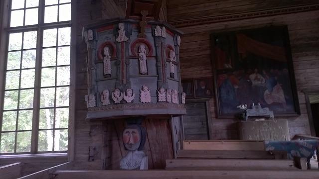 ペタヤヴェシの古い教会中