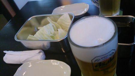 ビールとキャベツ