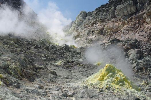 硫黄山の山