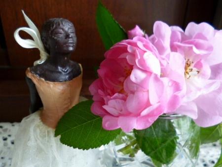 ドガの踊り子とバラ