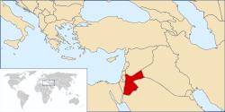 ヨルダン地図
