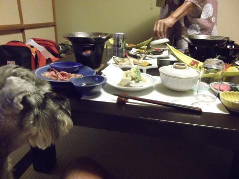 望川閣の夕飯