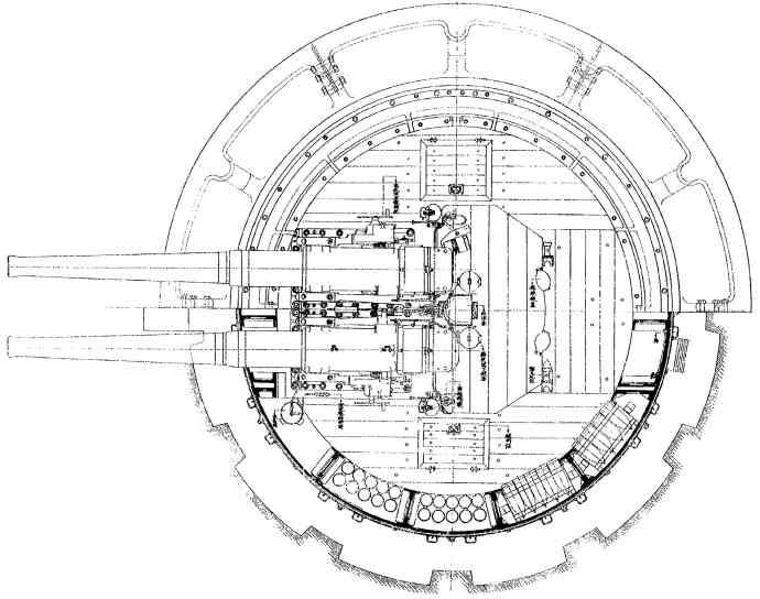 平面図(砲室)