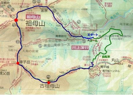 祖母山地図(ペイント)