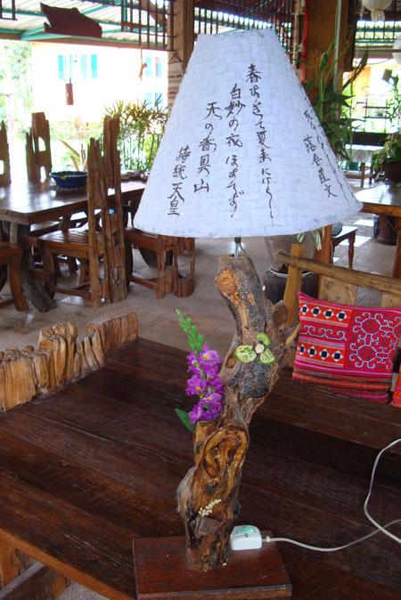 天然木の手作りランプ!