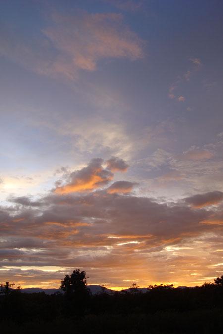高い夕空!