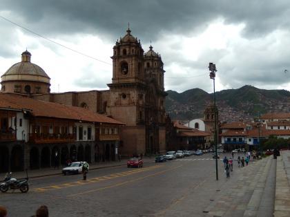 ペルー2014.1クスコ市内・アルマス広場ラコンパーニアデへスス教会