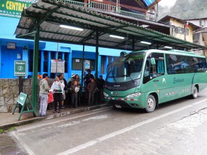 ペルー2014.1マチュピチュ村バス停