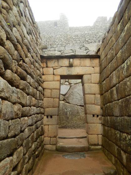 ペルー2014.1マチュピチュ・皇帝の部屋入口