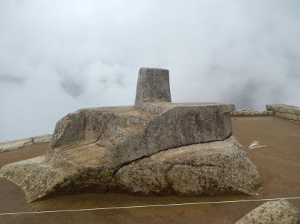 ペルー2014.1マチュピチュ・インティワタナの日時計