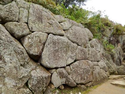 ペルー2014.1マチュピチュ・魚に似ている石組み
