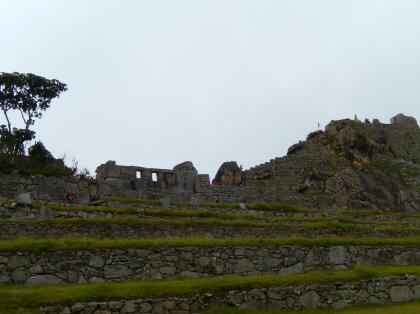 ペルー2014.1マチュピチュ・三つ窓神殿とインティワタナの高台