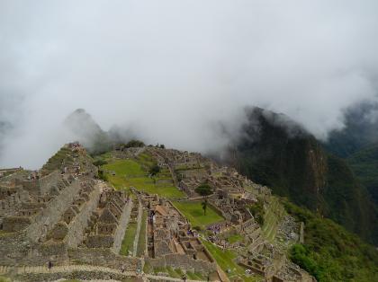 ペルー2014.1マチュピチュ・霧の市街地