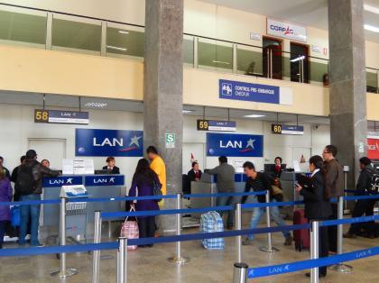ペルー2014.1クスコ空港
