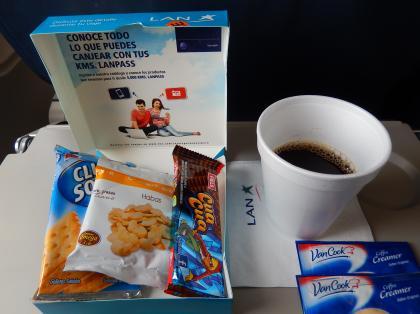 ペルー2014.1ラン航空リマ行き機内食
