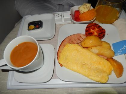 ペルー2014.1デルタ航空150便アトランタ行き機内食