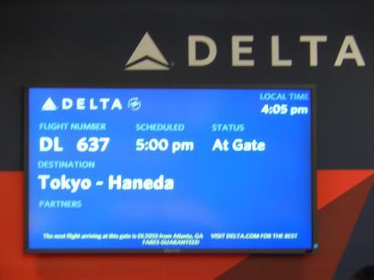 ペルー2014.1デルタ航空637便LAX発HND行