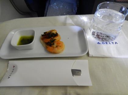 ペルー2014.1デルタ航空LAX発HND行機内食