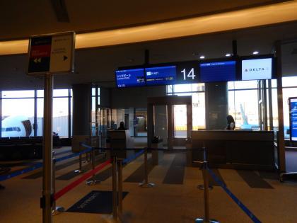 シンガポール2014.2デルタ航空シンガポール行