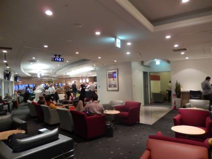 シンガポール2014.2出発デルタ航空ラウンジ