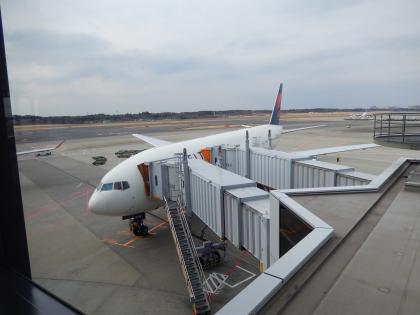 シンガポール2014.2デルタ航空成田行成田空港